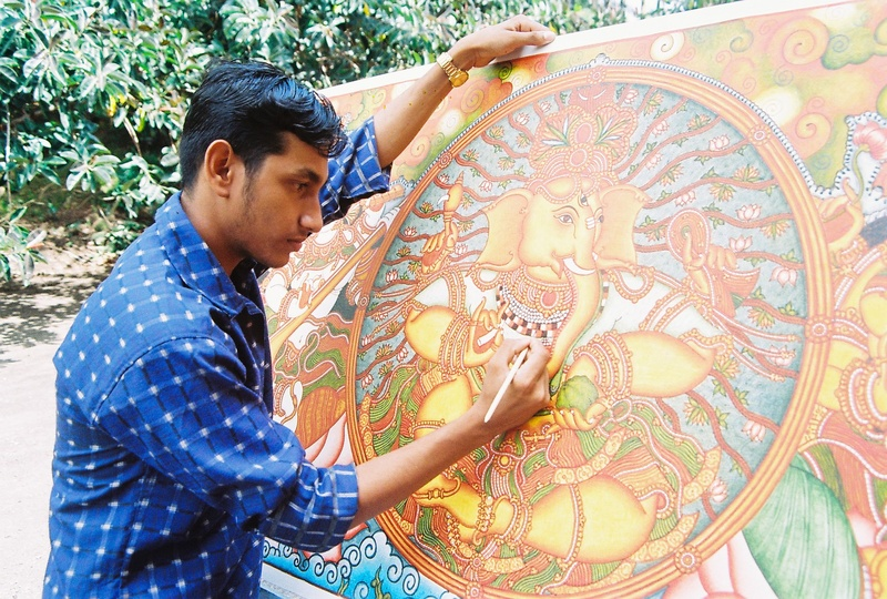 Soorya festival 2007 for Ananthasayanam mural painting