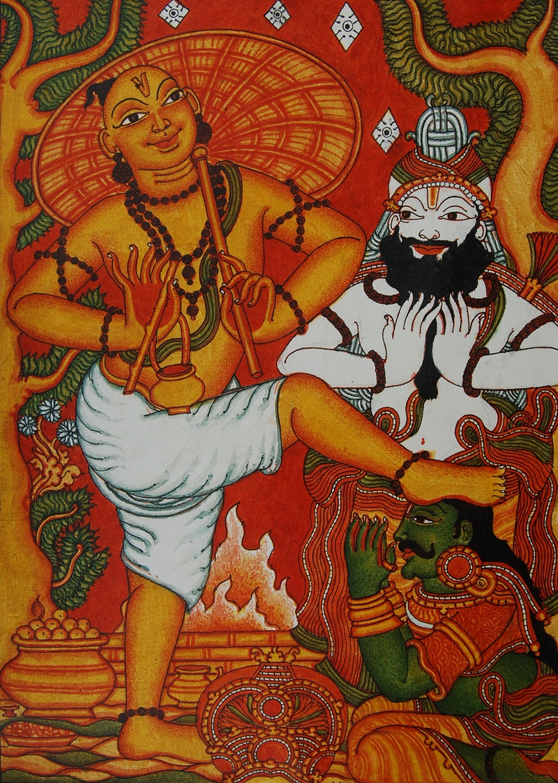 Design for Ananthasayanam mural painting