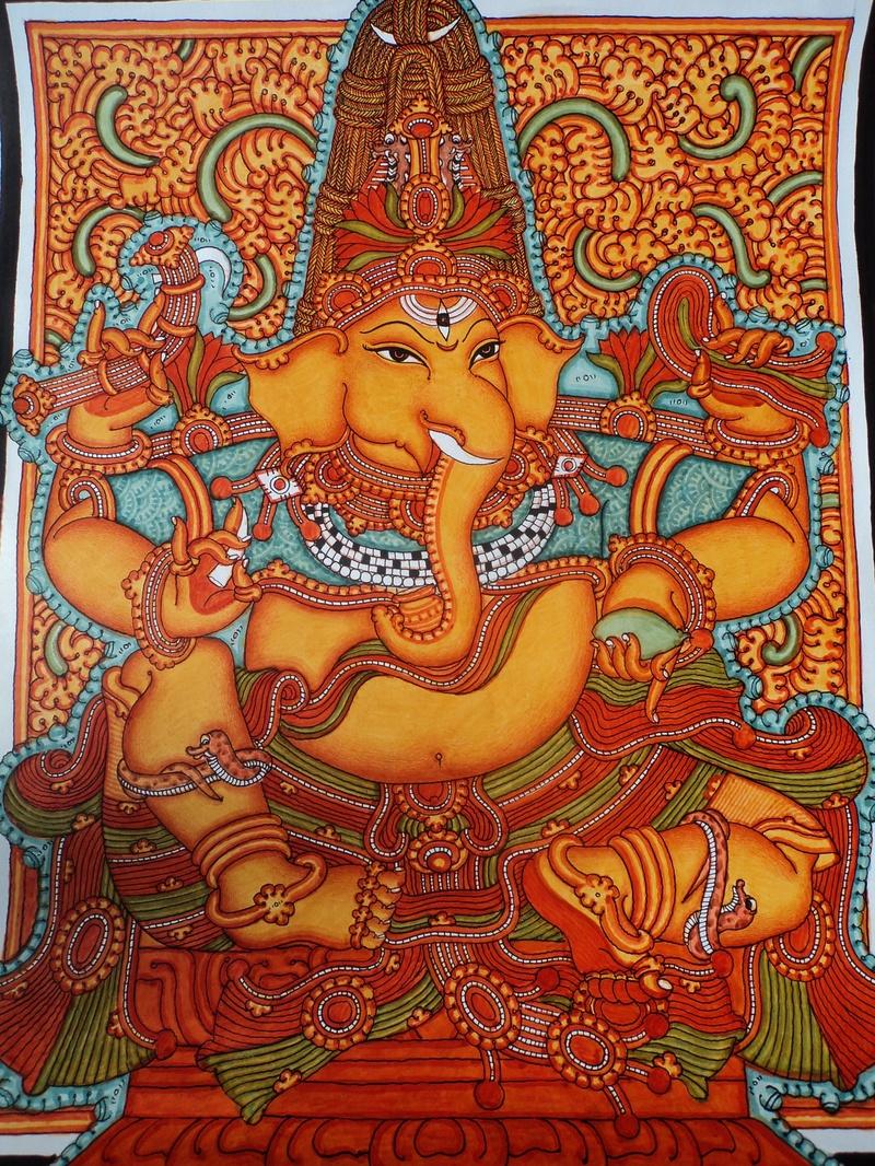 Venugopalam for Asha mural painting guruvayur