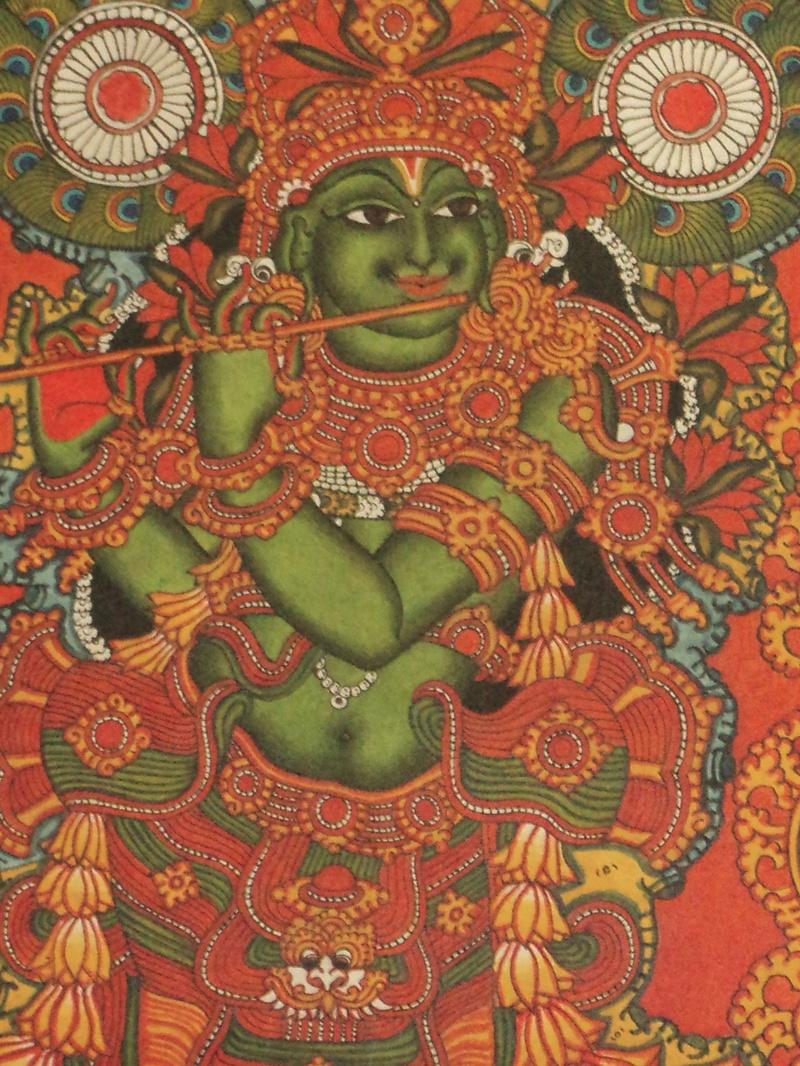 Saraswathi for Ananthasayanam mural painting