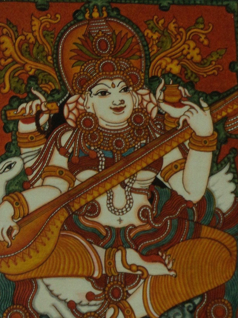 Vaamana and mahabhali for Ananthasayanam mural painting
