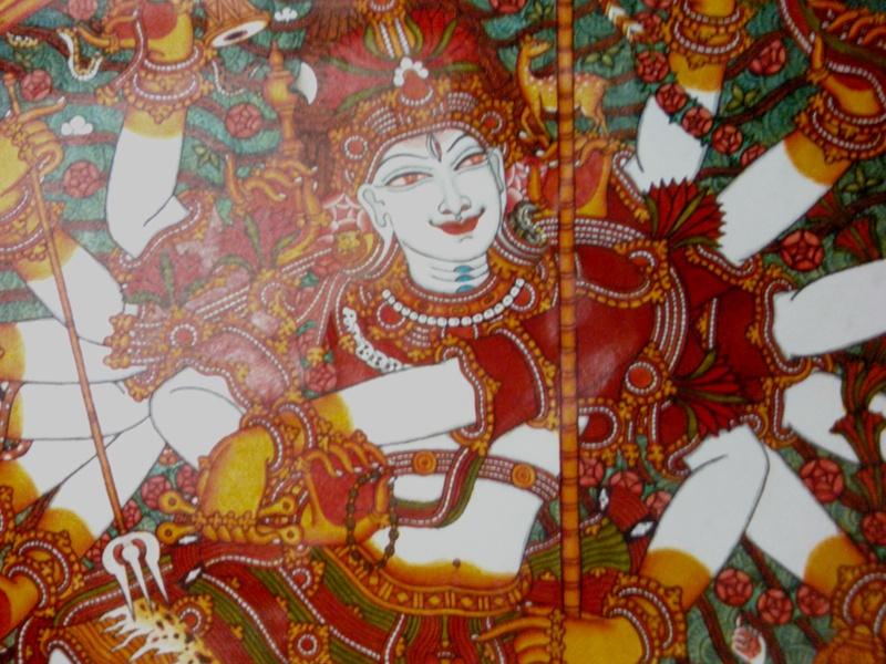 Maha vishnu for Ananthasayanam mural painting